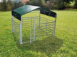 Patura Panel-Dach (mit Panels) Mobile Boxen mit Überdachung - Lieferung FREI HAUS