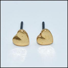 Heart earrings - gold