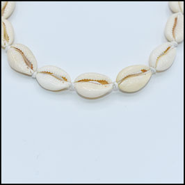 Shell choker - white