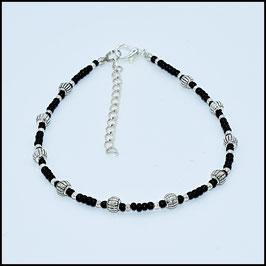 Tibetan beads anklet - black