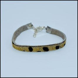Hairy leather bracelet 5mm