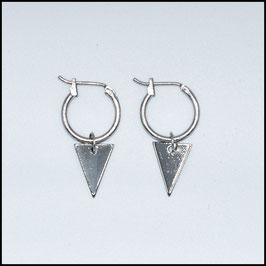 Hoop earrings triangle - Silver