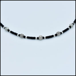 Tibetan beads necklace - Black