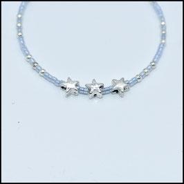 Triple star bracelet - Sky blue