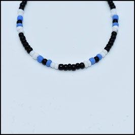 Beads bracelet - Black/white/blue