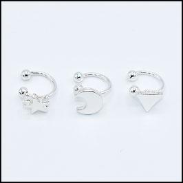 Clip earring - silver