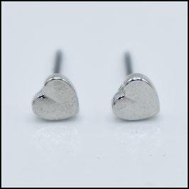 Heart earrings - silver