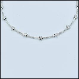 Mini silver star choker - Silver