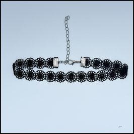 Black laced choker model 3