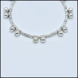 Silver ball bracelet - Silver