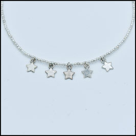 Five star necklace - Silver