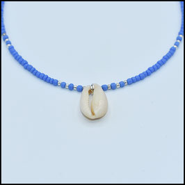 One shell necklace - Blue