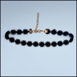 Black laced choker model 4