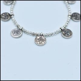 Silver small coin bracelet - Silver