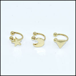 Clip earring - gold
