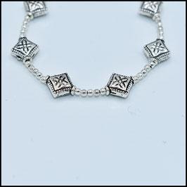 Silver rhomb bracelet - Silver