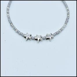 Triple star bracelet - Grey