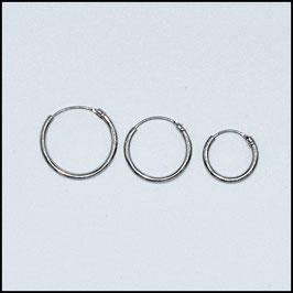 Hoop earrings - silver