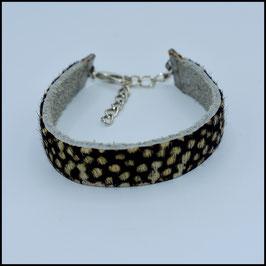 Hairy leather bracelet 10mm