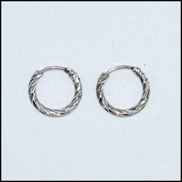 Hoop earrings spiral - silver