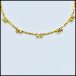 Gold ball necklace - gold