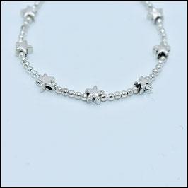Mini silver star bracelet - Silver