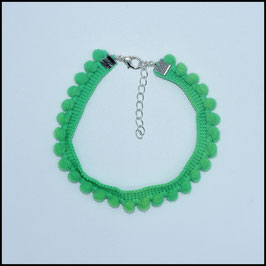 Pompom anklet green