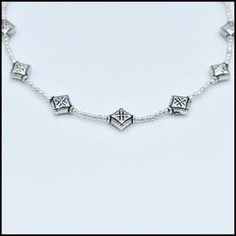 Silver rhomb choker - Silver