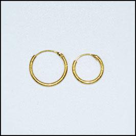 Hoop earrings - gold