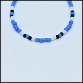 Beads bracelet - Blue/white/black