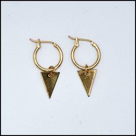 Hoop earrings triangle - Gold