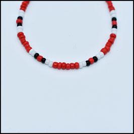 Beads bracelet - Red/white/black