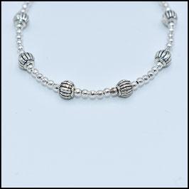 Tibetan beads bracelet - Silver