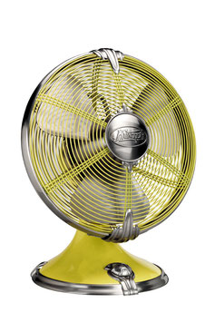 "Hunter Rockefeller 12"" Desk Fan Yellow 94049EU"