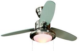 Люстра-вентилятор Merced 24085EU в цвете матовый никель