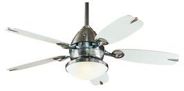 Потолочный вентилятор-люстра Retro 24257EU в цвете матовый никель