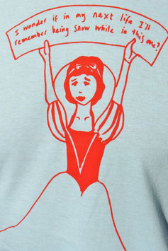 """Snow White"" T- shirt (drawing by Scout Niblett)"