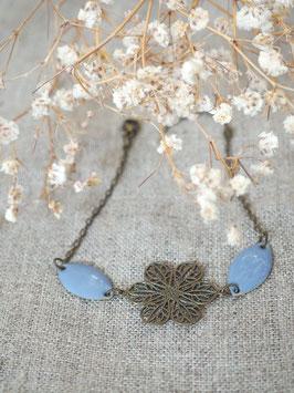 Bracelet sequins gouttes bleu lavande