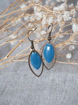 Boucles d'oreilles gouttes bleues