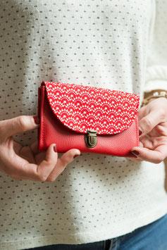 Porte monnaie Aloïse rouge