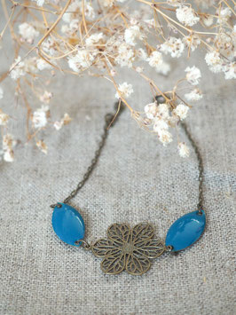 Bracelet sequins gouttes bleu