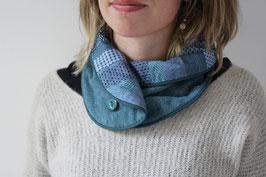 Col bleu patchwork