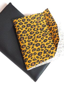 Sac l'essentiel léopard noir Céline