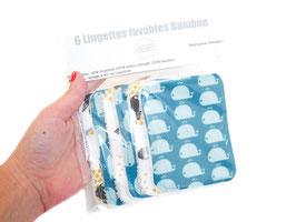 Lingettes lavables moutons baleines