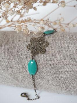 Bracelet sequins gouttes turquoise