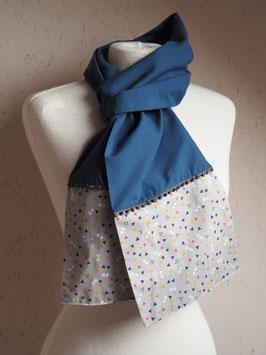 Foulard bleu gris triangles