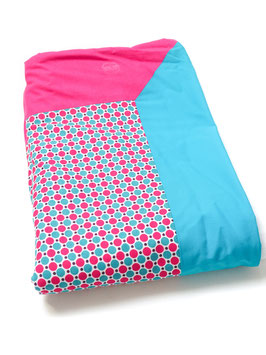 Couverture rose turquoise pop