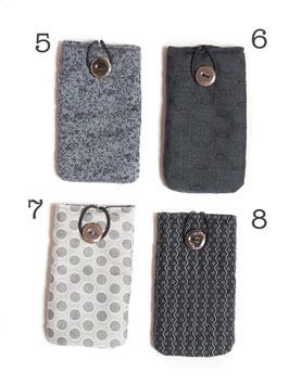 Etuis téléphone noirs et gris