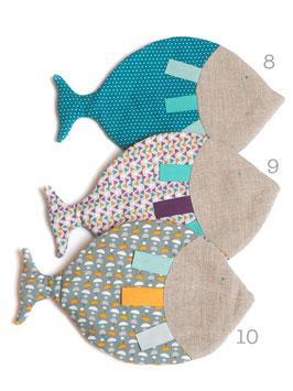 Poisson en tissu imprimé 8 à 10
