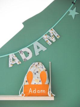 Sac à doudou et guirlande Adam